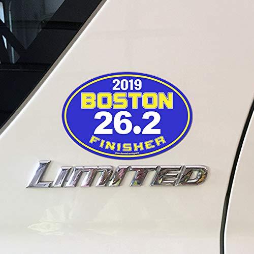 Charmed Running Boston Marathon Finisher 26.2 Distance 2019 Car Magnet