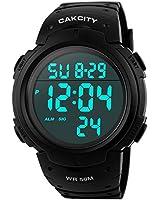 CakCity Men's Digital Sports Watch LED...