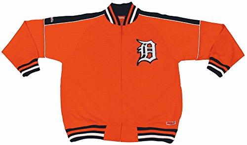 MLB Detroit Tigers Contrast Shoulder Track Jacket, Orange, XX-Large