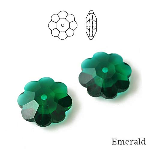 - Swarovski Crystal Margarita Beads #3700 8mm Emerald, Wholesale, Choose Package Size (36)