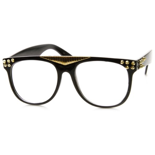zerouv-spiked-accented-super-retro-flat-top-clear-lens-horn-rimmed-glasses