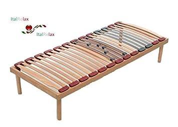 Punto it rete letto singola misura in legno di faggio con