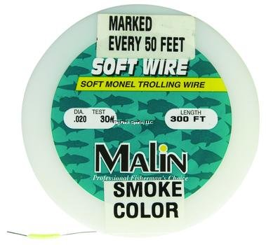 Malin PM40-300 Pre-Marked Monel Wire, 300-Feet, .24 Dia, 40-Pound by Malin