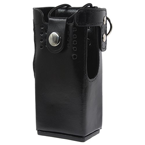 KENMAX Leather Case Holder for Walkie Talkie Two Way CB Ham Radio Motorola HT1250 HT1550 GP320 GP340 GP360