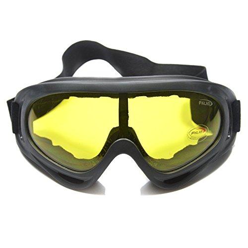 Supertrip TM Outdoor-Skibrillen Winddichtes Brille Schutzbrille Snowboardbrille Motorradbrillen Bikebrille Militärschutzbrillen Color Gelb