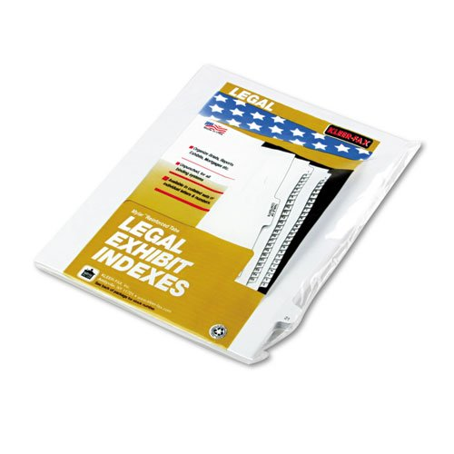 Kleer-Fax Letter Size Individually Numbered 1/25th Cut Side Tab Index Dividers, 25 Sheets per Pack, White, Number 21 - Tab Numbered Dividers White Individually