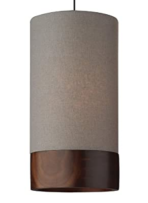 Topo 1 Light Two-Circuit MonoRail Pendant Finish: Satin Nickel, Color: Gray Walnut