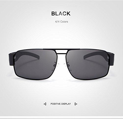 de de Mujer Sol Vintage de Gafas protección conducción Adultos para Gafas de UV400 Espejo de Sol Moda Gafas Sol Ultravioleta Hombre para Polaroid de Gafas de JCH Unisex Black Grandes Gafas Sol Gafas AO4wYO