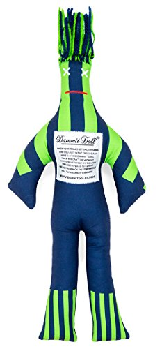 Dammit Doll - Win The Contender - Navy & Lime - Stress Relief - Gag Gift - Sports ()