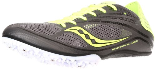 Saucony Men's Endorphin MD3 Track Shoe - Grey / Citron - ...