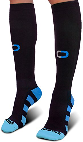 Pro Compression Socks for Men & Women (20-30mmHg) - Best Graduated Stockings for Running, Athletic, Stamina, Travel, Flight, Pregnancy, Maternity, Nursing, Medical, Shin Splints, Varicose Veins by Crucial Compression