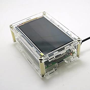 DollaTek Caja de acrílico Raspberry Pi/Carcasa/Gabinete para Pantalla HD de 3.5 Pulgadas y 800x480 Raspberry Pi 3B 2B B +: Amazon.es: Electrónica