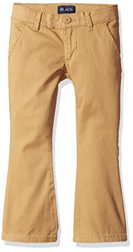 The Children's Place Girls Plus Size' Uniform Pants, Biscuit 44404, 10 by The Children's Place