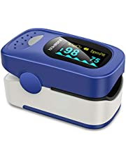 Jumper Oxymètre de Pouls Pulsomètre Portable - SpO2 (Saturation d'oxygène du Sang) et Moniteur de Fréquence Cardiaque - Avec écran OLED Numérique, CE et FDA a Approuvé