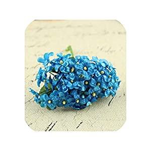 144PCS Mini Fabric Cherry Plum Blossom Artificial Flower Silk Baby Breath Floral Bouquet Wedding Decorations Fake Flowers,11 79