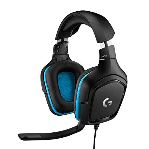 🥇 Logitech G432 Auriculares Gaming con Cable
