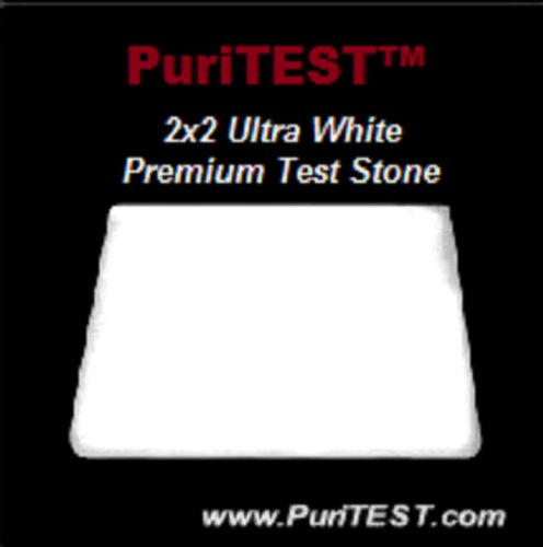 2x2 NEW White Pro Gold Test Stone Silver 9k 10k