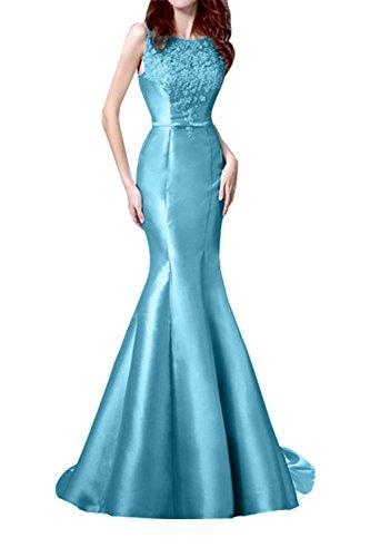 Brautmutterkleider Etuikleider La Braut Festlichkleider Jugendweihkleider mia Meerjungfrau Blau Neu Abendkleider Satin Langes OOq7BYwCT