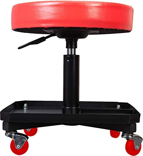 Torin TR6350 Red Deluxe Pneumatic Shop Seat Free Shipping