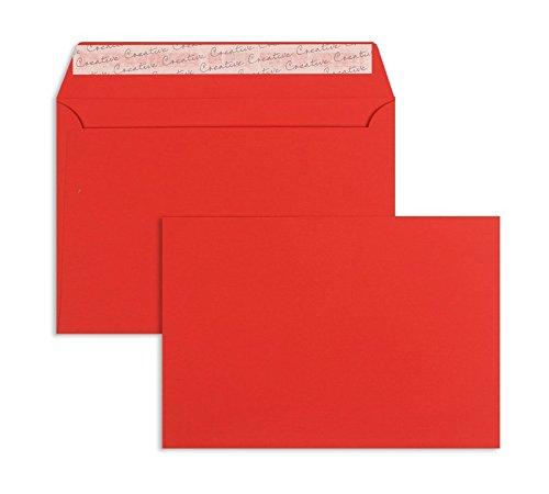 Farbige Briefhüllen   Premium   162 x 229 mm (DIN C5) Rot (125 Stück) mit Abziehstreifen   Briefhüllen, KuGrüns, CouGrüns, Umschläge mit 2 Jahren Zufriedenheitsgarantie B01DULGF5E   Zu einem erschwinglichen Preis    Rich-pünktliche Li