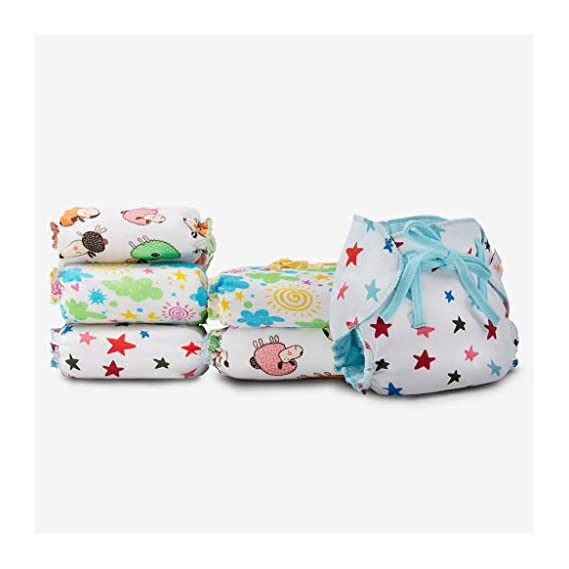 SuperBottoms Dry Feel Langot - Pack of 6- Organic Cotton Padded langot with Gentle Elastics & a SuperDryFeel Layer on