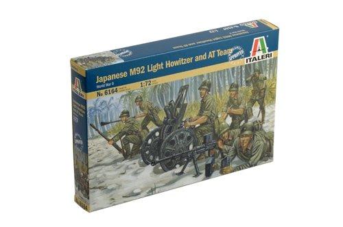 Italeri 510006164 - 1:72 Japanischer M92 Leichte Howitzer und AT Team