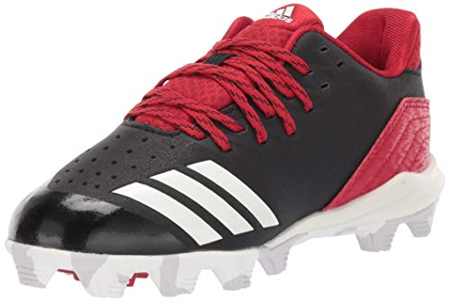 adidas Unisex Icon 4, Black/Cloud White/Power red, 5 M US Big - Kids Cleats Red