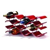 Oenophilia Bali Wine Rack, 12-Bottle (Crimson Red)