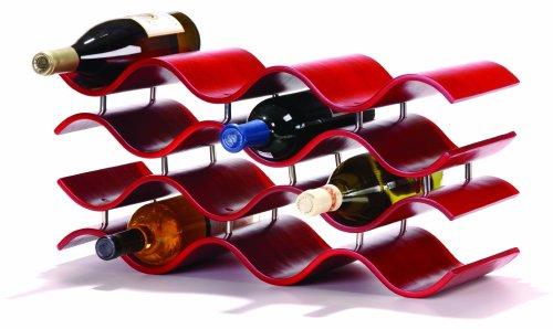Modern Wooden Wine Rack,12 Bottles