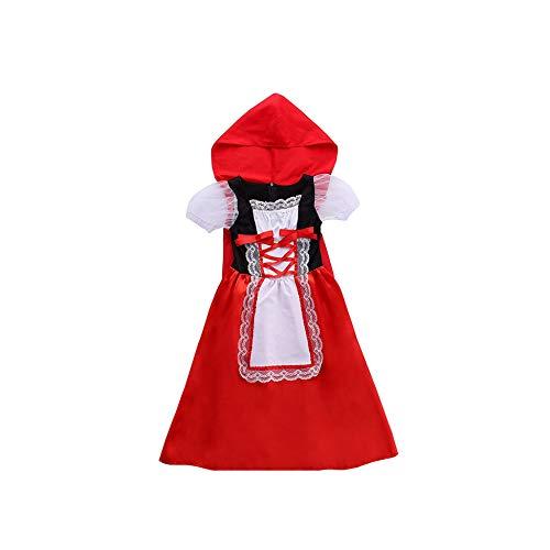 Girls Unicorn Tutu Dress Princess Rapunzel Superhero Vampirina Cosplay Party Wear,Red Riding -