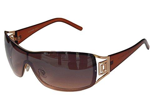 Sonnenbrille Damenbrille Brille Monoglas Moderner Style Damen M 41 (Silber Weiß) k7Grk2