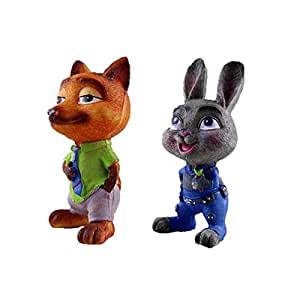 Zootopia Resin Decoration City large piggy Fox Nick Judi Rabbit