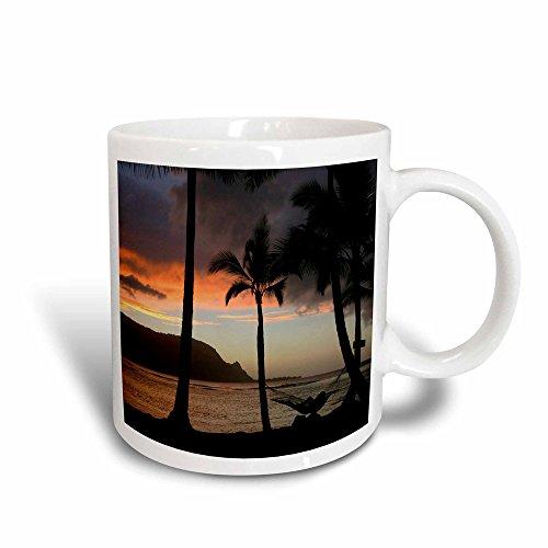- 3dRose Sunset, Princeville, Hanalei Bay, Kauai, Hawaii, Magic Transforming Mug, 11-Oz