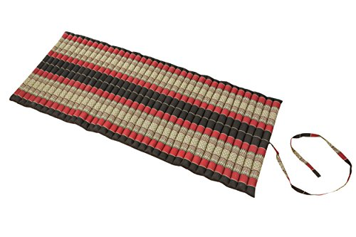 Handelsturm Rollable Mat, 100% Natural Kapok Filling. 80X200cm, Black &...