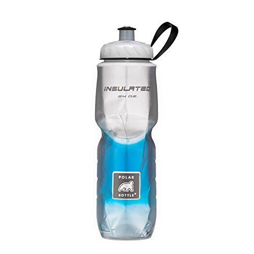 Polar Bottle Insulated Water Bottle (Blue Fade) (24 oz) - 100% BPA-Free Water Bottle - Perfect Cycling or Sports Water Bottle - Dishwasher & Freezer - Ray Polar