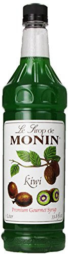Monin Flavored Syrup, Kiwi, 33.8-Ounce Plastic Bottles (Pack of -