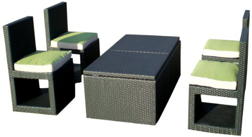 Deeco DM-DC-501 Art Deck-Oh Deck-Cetra Interlocking All Weather Wicker Furniture Set