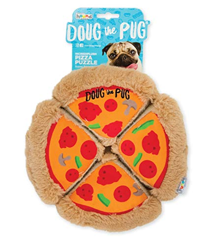 - Outward Hound Doug The Pug Incrediplush Pizza Puzzle Squeaky Plush Dog Toy