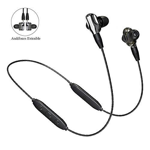 Langsdom BD35 Audífonos Bluetooth In-Ear Auriculares Extraibles MMCX Manos Libres Estereo Doble Altavoz Extra Bass con...