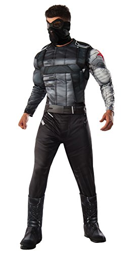 Captain America: Civil War Deluxe Muscle Chest Winter Soldier Costume and (Winter Soldier Costume Accessories)