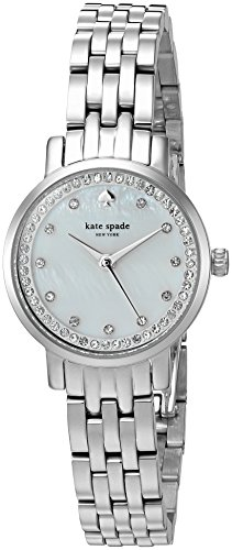 - Kate Spade Women's KSW1241 Mini Monterey Analog Display Quartz Silver Watch
