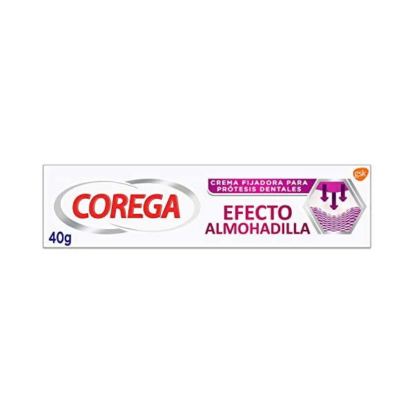 Corega Efecto Almohadilla - Crema Fijadora para Prótesis Dentales - 40 gr, Blanco 1