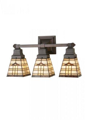Meyda Tiffany 98195 Arrowhead Mission 3 Light Vanity Light Wall Sconce, 20