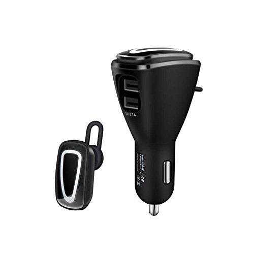 KOBWA Bluetooth Headset, USB Car Charger Mini Wireless Earbuds Bluetooth Earpiece Hands-free Bluetooth Earphones with Mic Bluetooth Headset for IPhone and Android by KOBWA