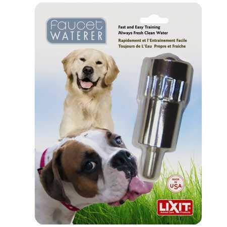 Lixit Dog Waterer Faucet Outdoor Water Fountain Made in USA ()
