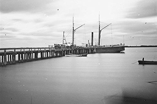 New 4x6 Civil War Photo: Army Wharf at Saint Augustine, - Stores South Wharf