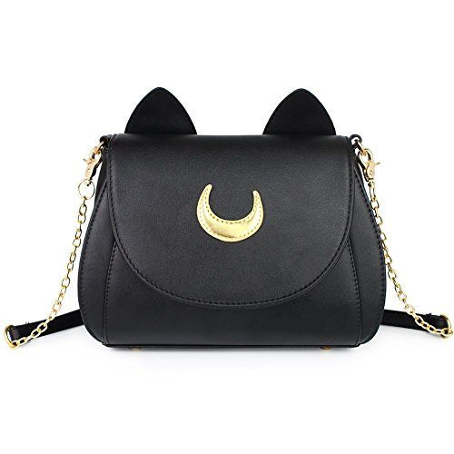 Moon Luna Cat Purses Pu Leather Gothic