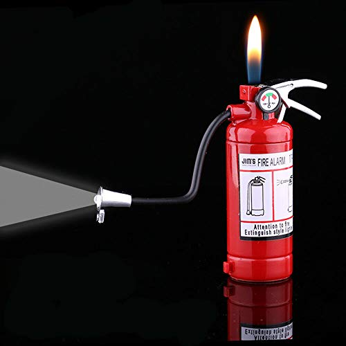 New Novel Funny Fire Extinguisher Butane Gas Lighter Windproof Lighter Gifts
