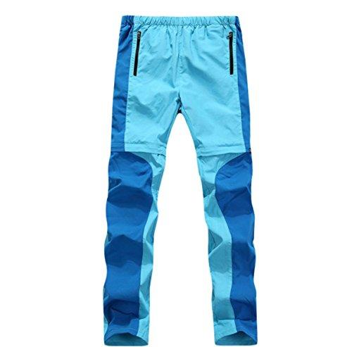 De Secado Rápido En General Masculina Y Femenina Montañismo Deportes Extraíbles Dos Cortadas Pantalones Pantalones Cortos Blue02