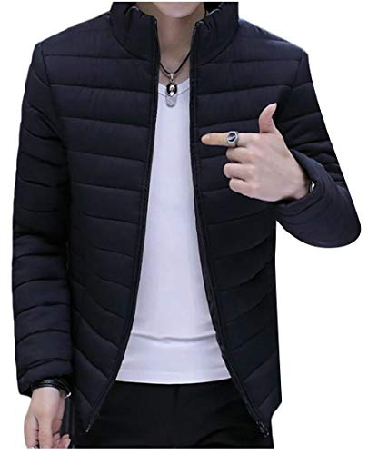 Breve Colletto Piumino Outwear Packable Alla Uomo Nero Ttyllmao Coreana 1IqSxwvx